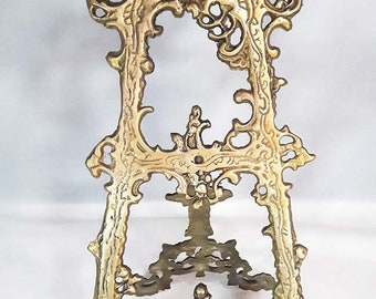 Beautiful Large Ornate Vintage Brass Easel