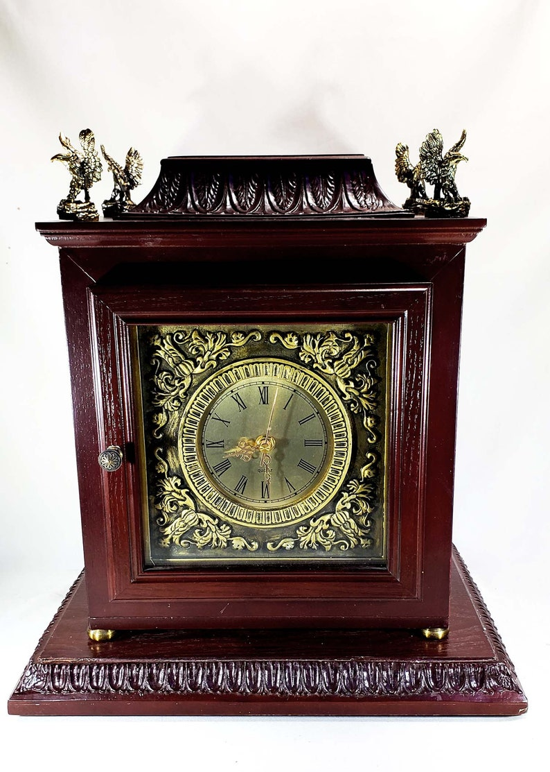 Liberty Handcarved Thomas Mantel Clock Pacconi Table Impressive qpzVMSU