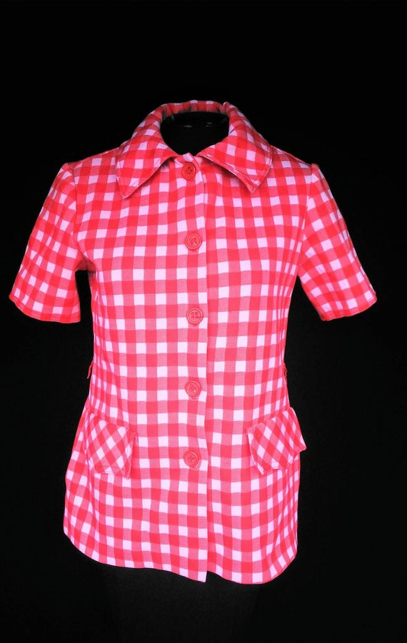 Vintage Jack Winter Red and White Matching Top and