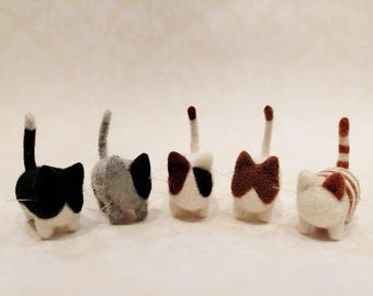 Adorable Needle Felted Kitten, Needle Felted Kitty Family