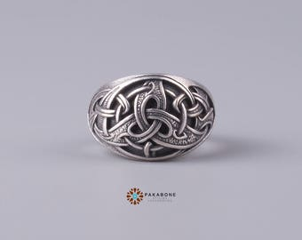 Wolf Ring With Viking Design Unique Mans Wedding Ring