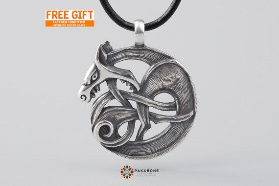 Fenrir Viking Wolf Wikinger Schmuck Anhänger Amulett Etsy
