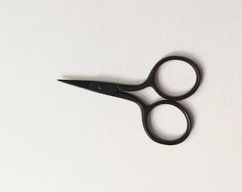 "Tiny Premium Matte Black Embroidery Scissors - 2.5"" Sheath Included"