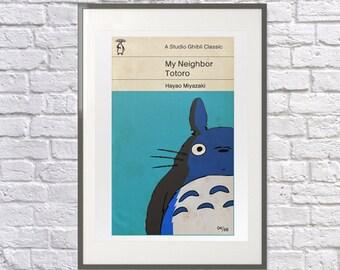 My Neighbor Totoro as a Vintage Penguin Cover: Print, Art, Poster, Studio Ghibli