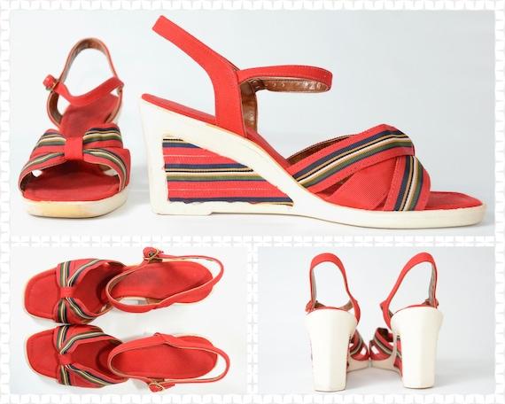 1970s Platform Wedge Sandals - Fanfare Brand - Tru