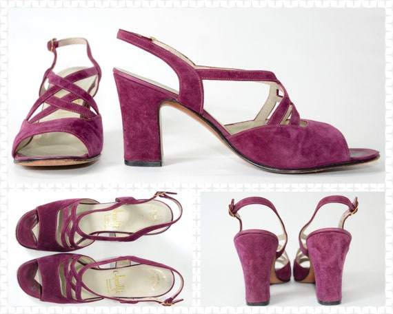 1970s Chunky Purple High Heel by Amalfi