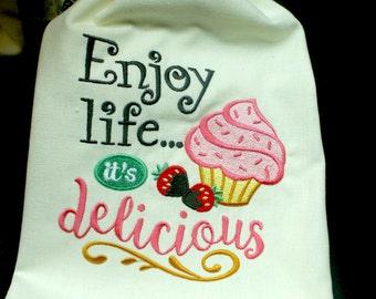 Enjoy Life It's Delicious Single Dish Towel