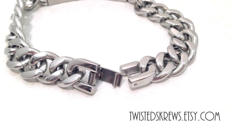 CUSTOM BDSM ENGRAVED Stainless Steel Men/'s bracelet master dom sir daddy ddlg submissive male slave cuckold