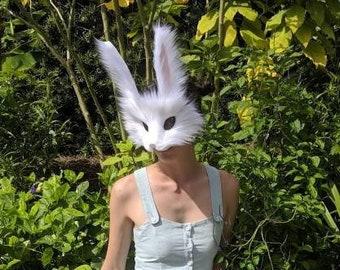White Rabbit Mask, handmade
