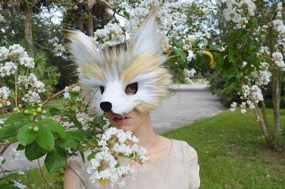 Faux Fur Raccoon Mask, handmade
