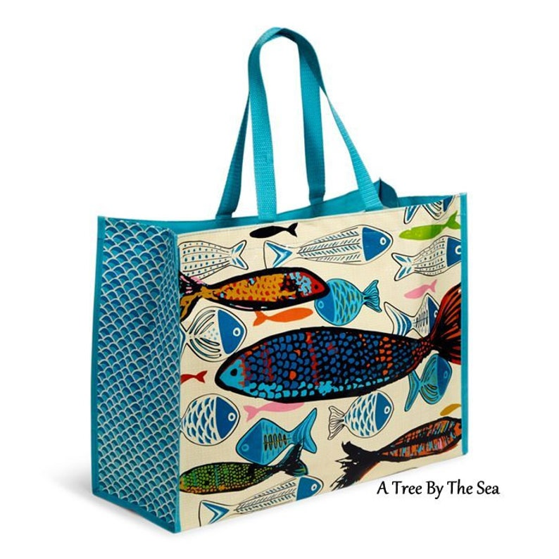 351c1e0598 Vera Bradley Market Totes GO FISH Set of 2 for Beach