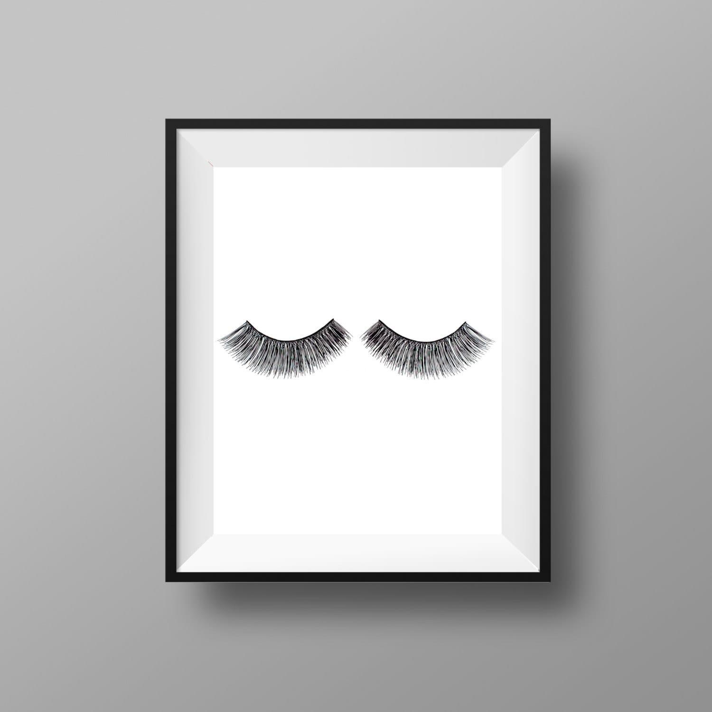 eye lash print makeup print makeup decor eye lashes etsy