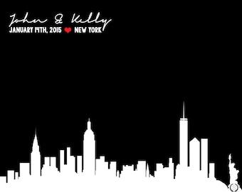 New York Skyline Wedding Gift   NYC Skyline Wedding Gift   New York Skyline   New York   Wedding Gifts > 8X10 - Digital Download