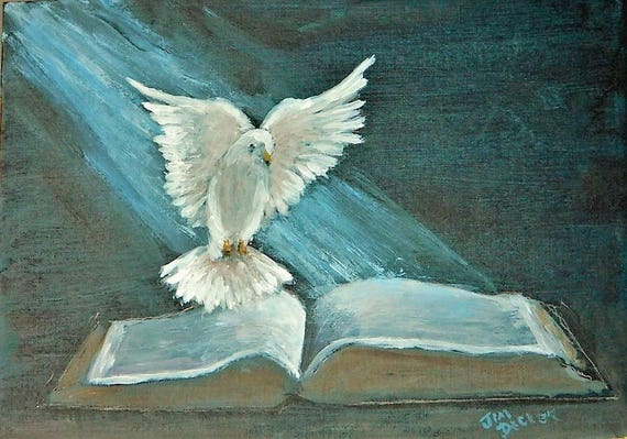 BIBLE PAINTING , Guidance From Above Jim Decker