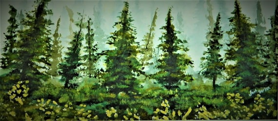 FOREST PAINTING  Silence No Words Necessary