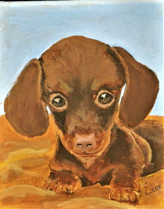 PET PORTRAIT  Custom Pet Paintings, Maine Art, Dog Painting, Small painting