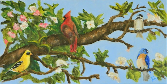 APPLE BLOSSOM TIME  Colorful Song Birds