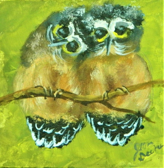 BABY OWLS Painting