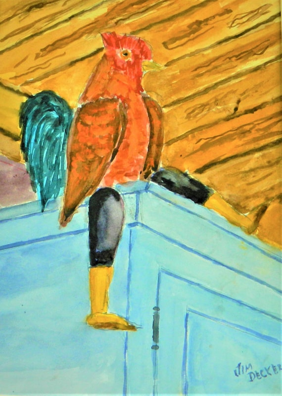 ROOSTER PAINTING  {  I  Rule The  Roost