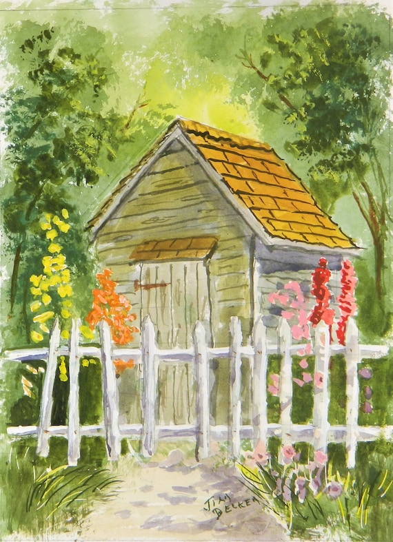 GARDEN  , Garden Shed Flowers , Jim Decker