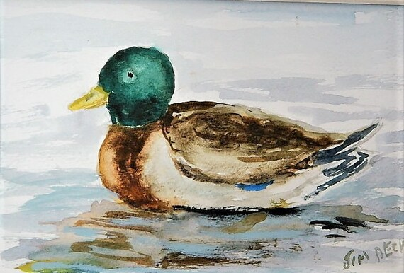 DUCK PAINTING  Mallard ,waterfowl, wildlife