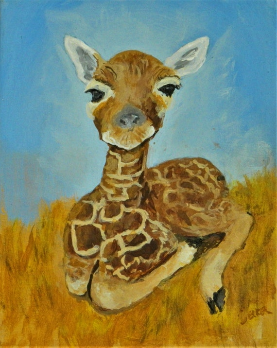 Baby Giraffe Children's art