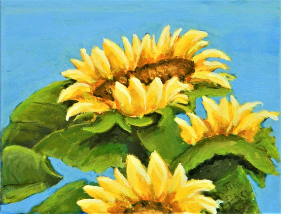 SUNFLOWER PAINTING  SUMMER Time Painting
