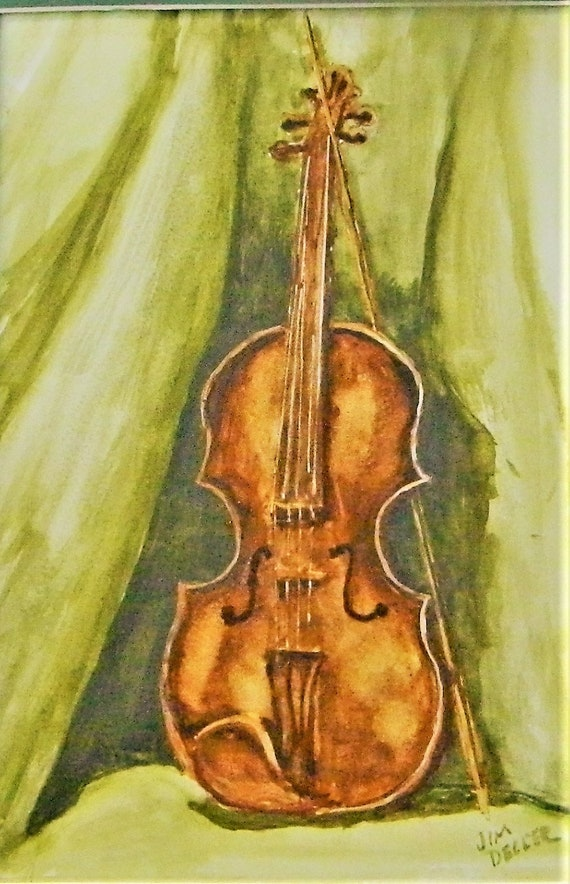 VIOLIN Music, Still Life Green  Jim Decker
