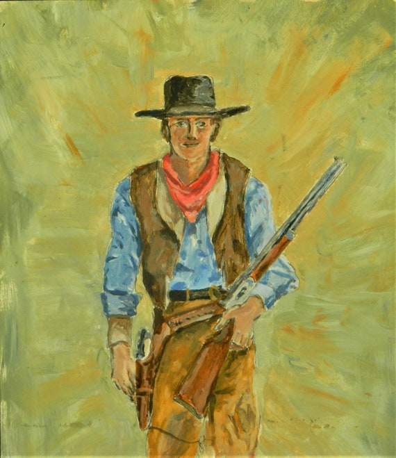 COWBOY  PAINTING   {  How The West Was Won  }