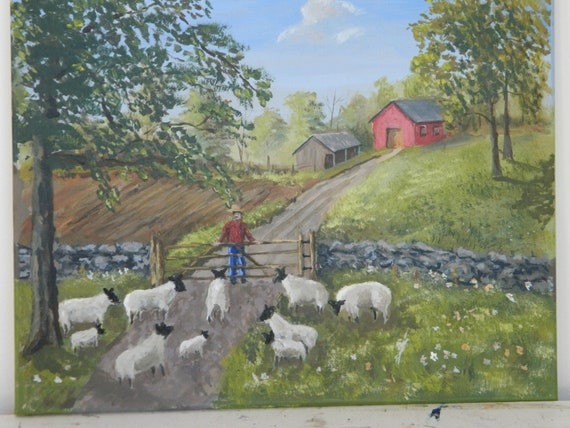 Sheep Painting We Want To Go Home Jim Decker