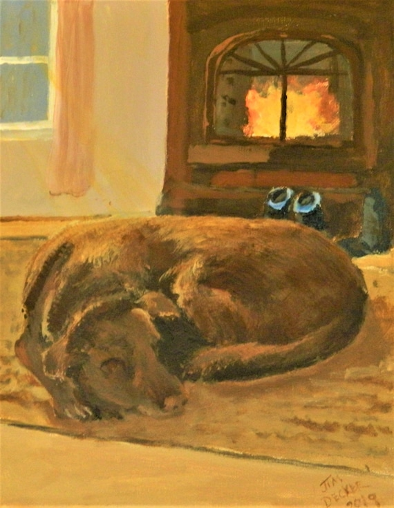 PET PAINTING  Chocolate Lab