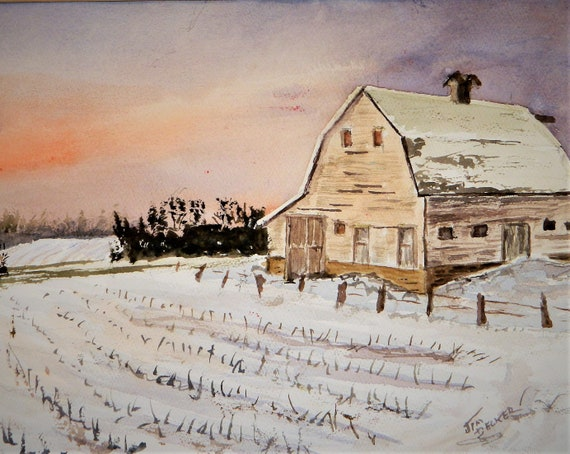 FARM PAINTING { Can't Wait For Spring }