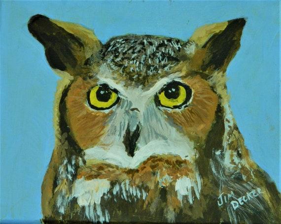 OWL Painting  Wildlife