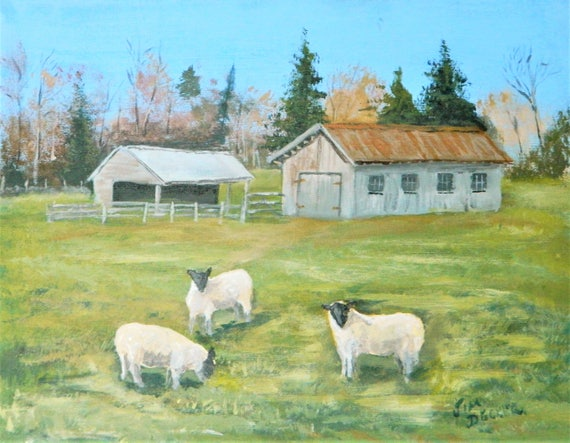 SHEEP FARM  Barn Farming  Country Landscape Jim Decker
