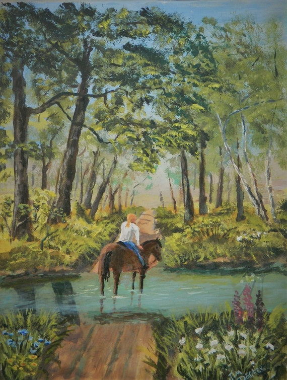 Girl On Horseback  Afternoon Ride
