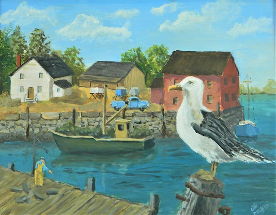 HARBOR VIEW  Maine Painting