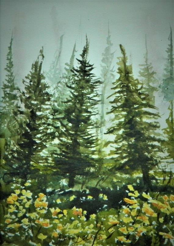 MISTY FOREST PAINTING
