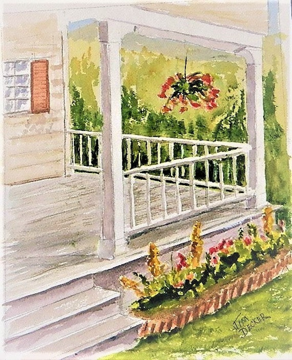 FRONT PORCH  Summer Time  Old House, Farm House Jim Decker