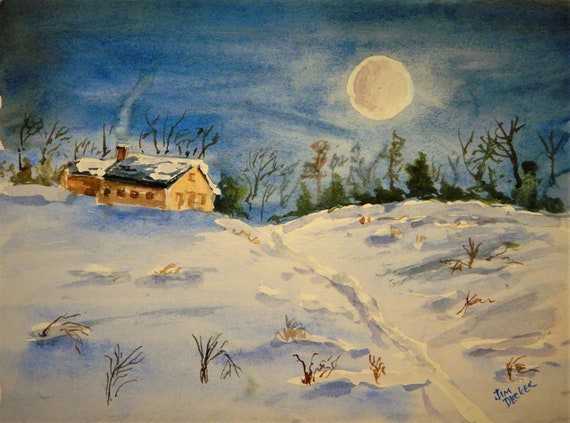 MOON , FEBRUARY MOON , Moonlight, Moonlight on the Snow Jim Decker