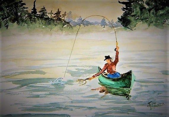 TROUT FISHING  Early Morning Catch, Canoe Fishing,