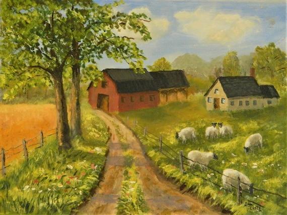 SHEEP FARM  Red Barn