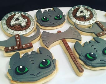 How to Train Your Dragon Sugar Cookies