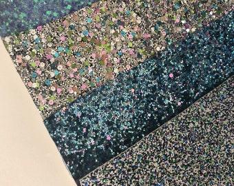 """Pack#5 Chunky Glitter Pack - Chunky Glitter Fabric Sheet 8 X 11"""" - Glitter Fabric Sheet"""