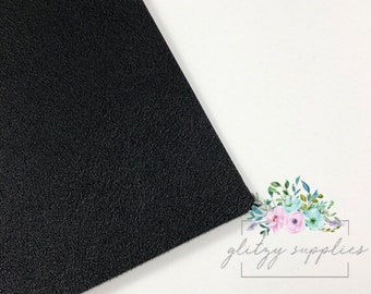 Black Smooth Faux Leather Sheet 8 x 11 - Smooth Faux Leather Sheet