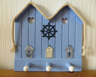 """DECO """"Sea bath"""" in shades of Navy blue-white for hanging small items"""