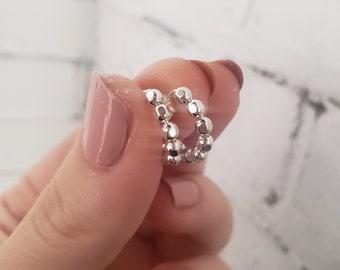Huggie earrings, huggie hoop earrings silver, Tiny hoop earrings, huggie hoops, small silver hoop earrings, dainty hoop earrings