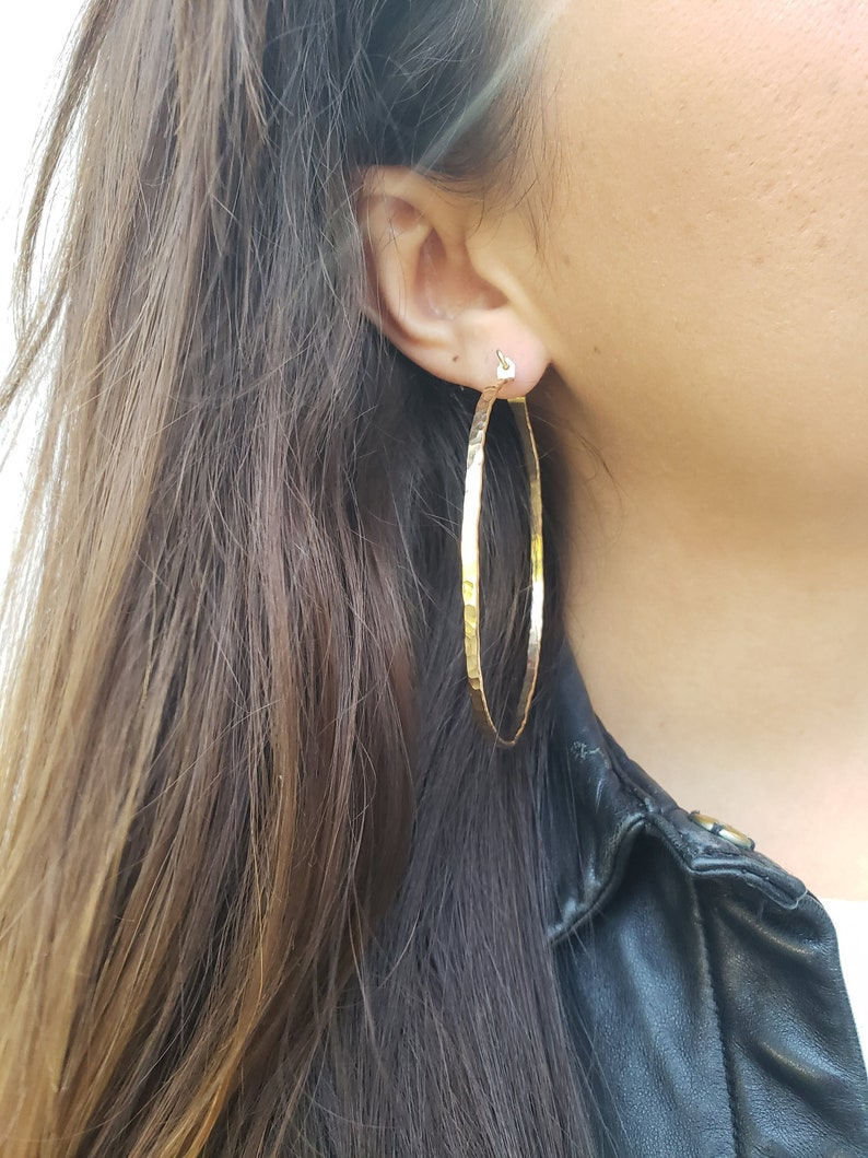 0051605484f23 Thick gold hoops, hammered gold hoops, gold hoop earrings, chunky hoops,  chunky hoop earrings, textured hoop earrings, oversized hoops