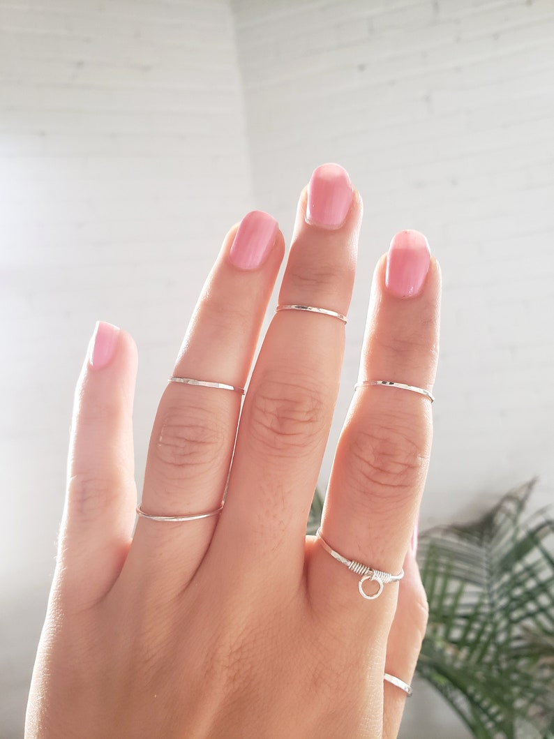 above knuckle rings gold knuckle rings silver midi rings Midi ring set stacking rings dainty midi rings rose gold ring thin rings