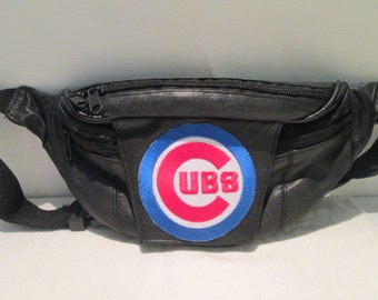 Black Leather Fanny Pack 9x6
