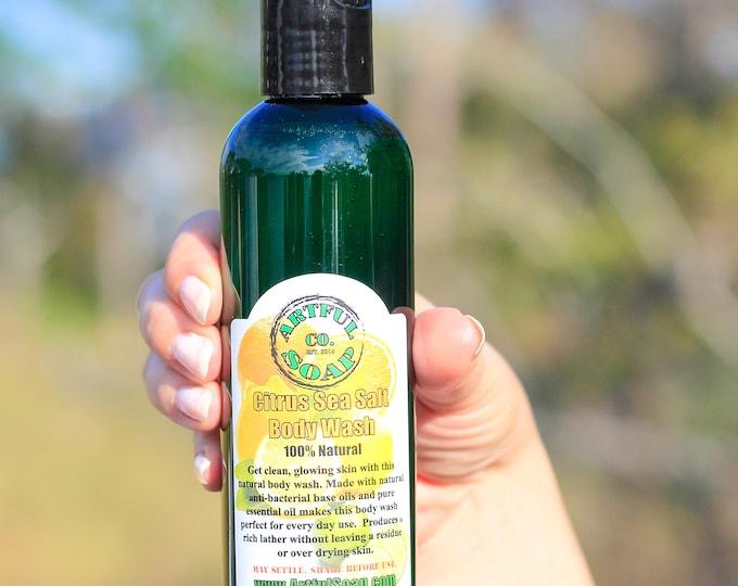Citrus Sea Salt Body Wash, 100% Natural, Citrus Soap, Moisturizing Body Wash, Handmade Soap, Natural Soap, Moisturizing, Handcrafted, Soap